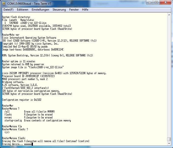 Wiederherstellung Cisco IOS mit Xmodem – R33NET BLOG